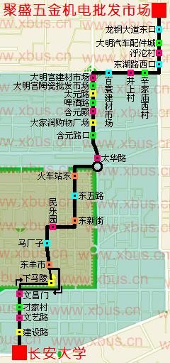 309路公交线路图