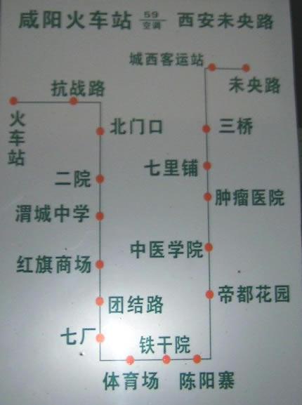 咸阳59路公交线路图