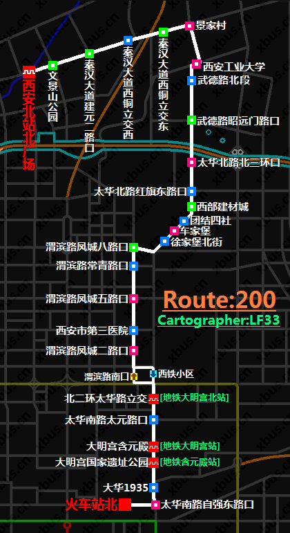 西安公交线路图_200路公交车-西安公交网