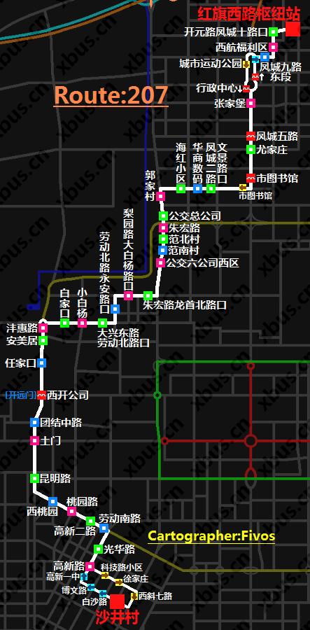 西安公交线路图_207路公交车-西安公交网