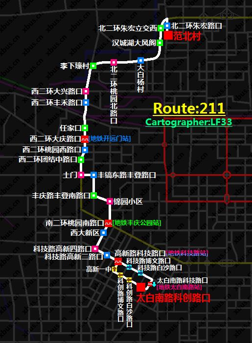 西安公交线路图_211路公交车-西安公交网