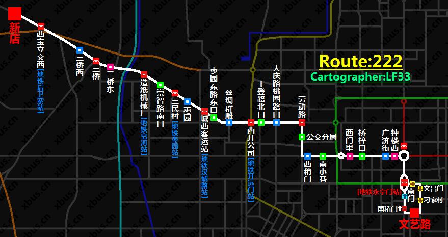 西安公交线路图_222路公交车-西安公交网