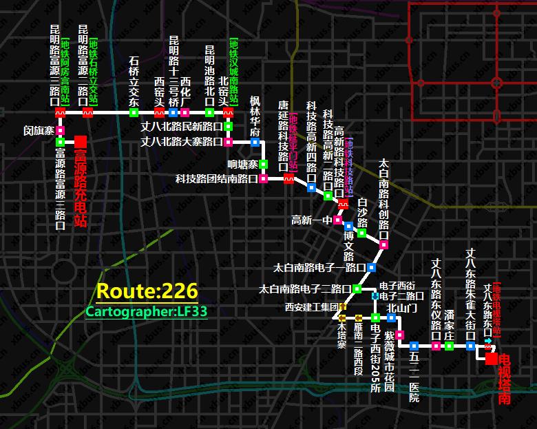 西安公交线路图_226路公交车-西安公交网