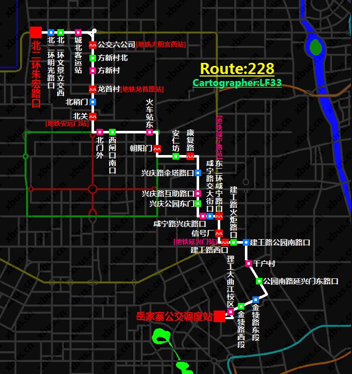 西安公交线路图_228路公交车-西安公交网