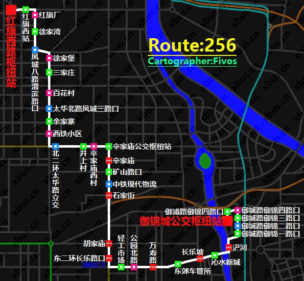 西安公交线路图_256路公交车-西安公交网