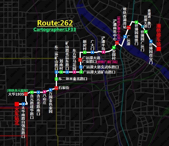 西安公交线路图_262路公交车-西安公交网