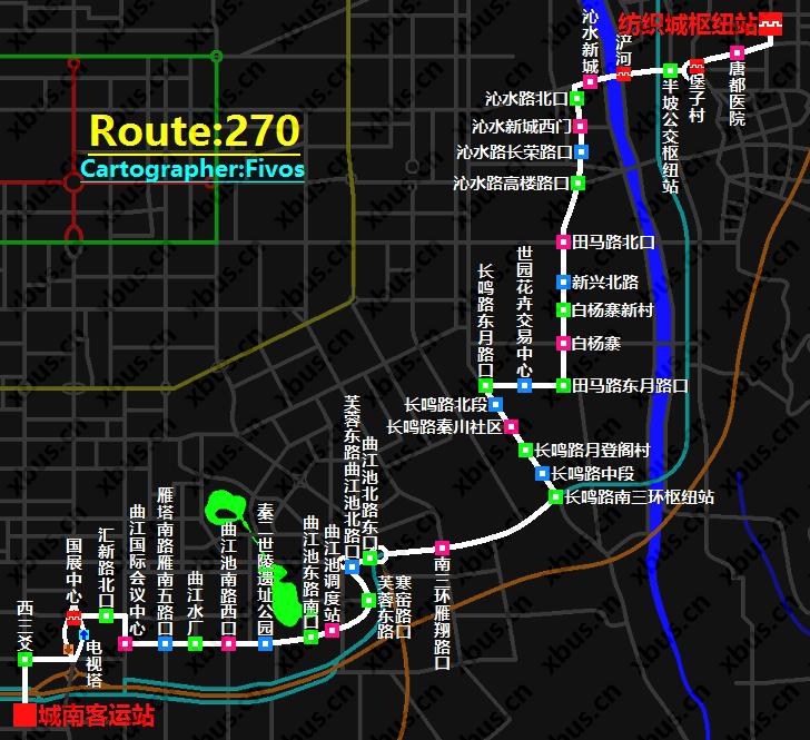 西安公交线路图_270路公交车-西安公交网