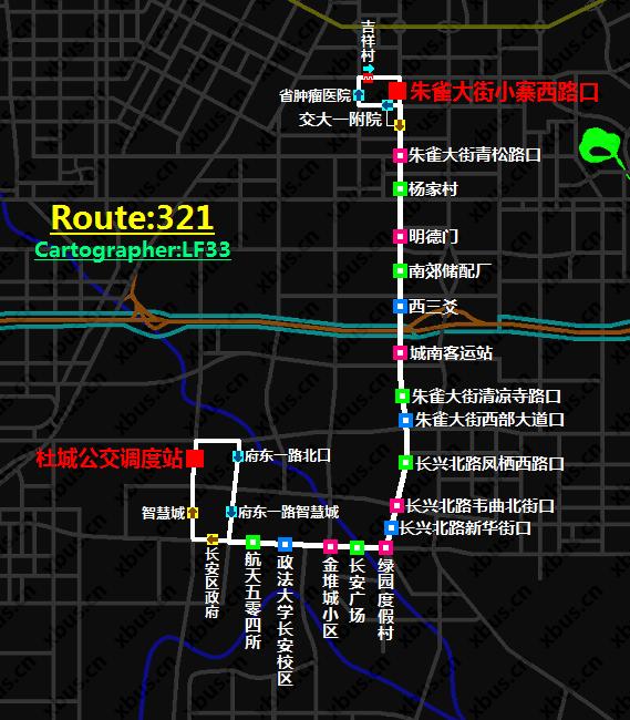 西安公交线路图_321路公交车-西安公交网