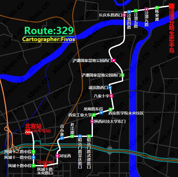 西安公交线路图_329路公交车-西安公交网