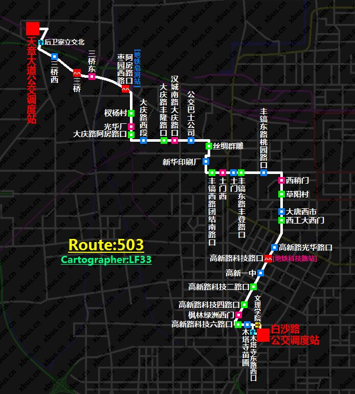 西安公交线路图_503路公交车-西安公交网