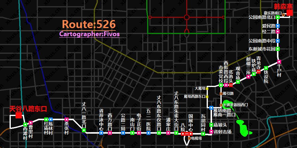 西安公交线路图_526路公交车-西安公交网