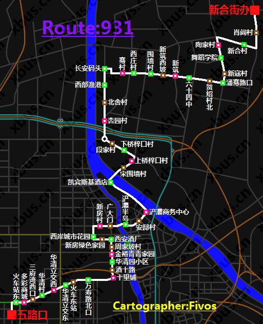 西安公交线路图_931路公交车-西安公交网
